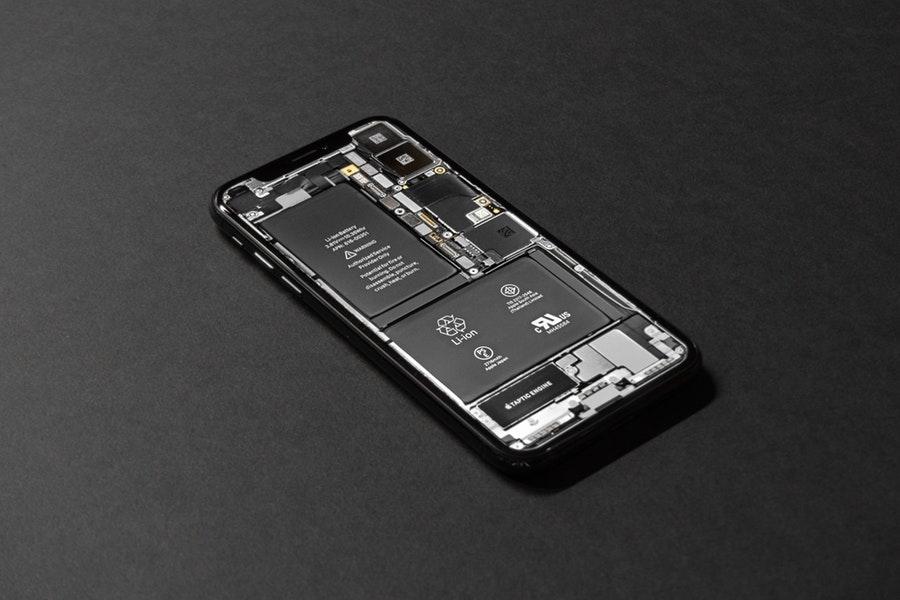 black background battery